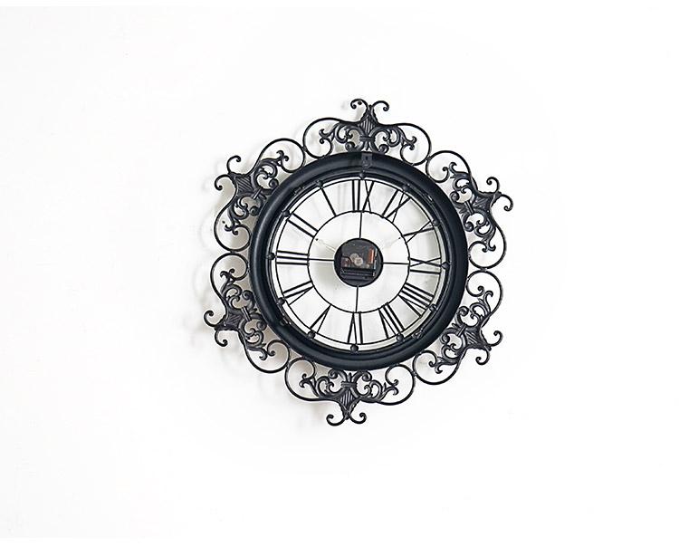 洛可可雕花欧美式创意装饰钟表墙面挂钟